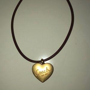 Coach locket necklace